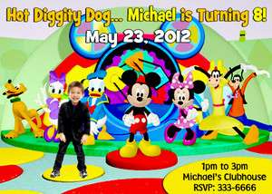 MICKEY MOUSE BIRTHDAY PARTY INVITATIONS & PARTY FAVORS