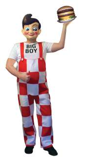 Big Boy Deluxe Adult Costume With Plastic Mask Standard *New*