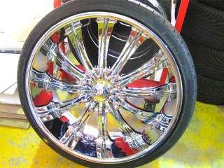 Wheel + Tire Packages 26 inch Triple chrome rims B15
