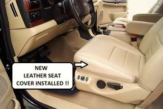 02 07 Ford F250 F350 Excursion Lariat Leather Driver Side Bottom Seat