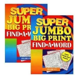 Super Jumbo Big Print Find A Word Puzzle Book  Case of 48