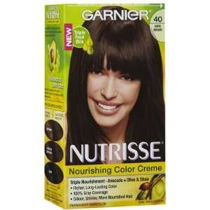 Garnier Nutrisse Level 3 Permanent Hair Creme, Dark Brown
