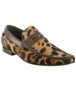 Dolce & Gabbana leopard pony hair penny loafers