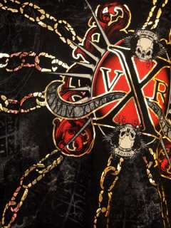 Men XVR Unlimited Tee Chains Of Hell Xtra Life Skull XL
