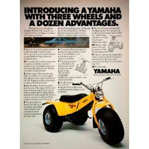 1980 Ad Yamaha Three Wheeler Recreational Vehicle Tri Moto