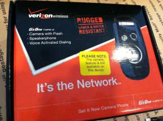 New Casio Gzone Type S Verizon Phone, Good ESN, W/O Cam