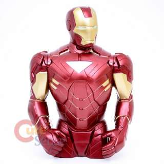 Marvel Iron Man Bust Figure Coin Bank 8 Ironman Figure