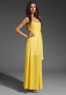 2012 $348 BCBG MAX AZRIA MARAS STRAPLESS Maxi Dress Cocktail GOWN glow