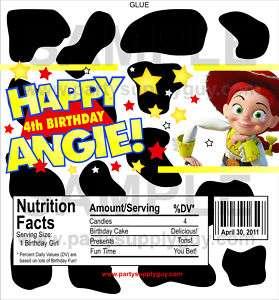 Customized Toy Story Jessie Cow Candy Wrapper Wrap Kit