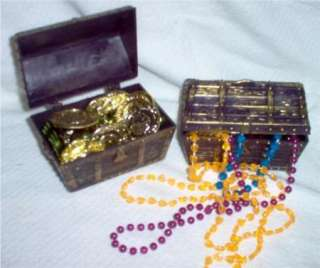 12 Pirate Rustic Plastic Treasure Chest Box Party Favors
