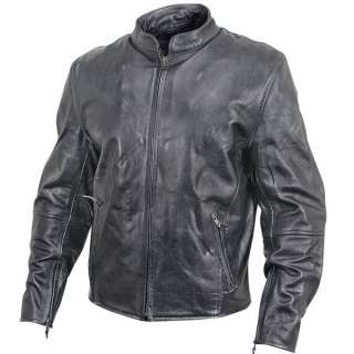 Armored Mens Vintage Leather Motorcycle Jacket M 4X