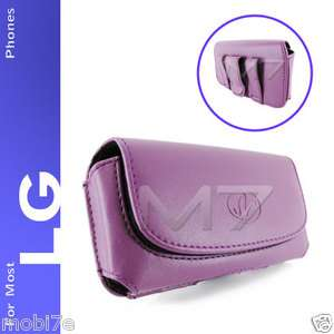 LEATHER POUCH CASE FOR MOST LG PHONES COVER WITH BELT CLIP LOOP
