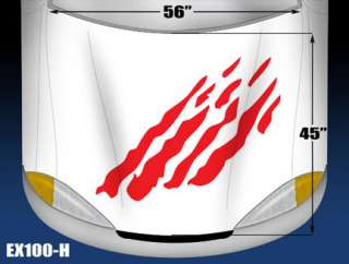 5100 H HOOD Rally Splash Vinyl Graphics Decal CAR/TRUCK