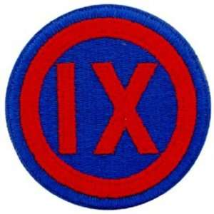U.S Army 9th Corps Patch Red & Blue 3 Patio, Lawn