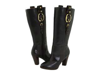 LUCKY BRAND MARIE LEATHER BUCKLE BOOTS NEW 6.5 Black