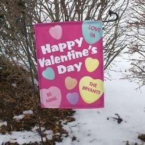 Valentines Day Garden Flag Love Yard Flag Patio, Lawn & Garden