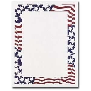 Patriotic American Flag Letterhead & Flyer Paper Patio, Lawn & Garden
