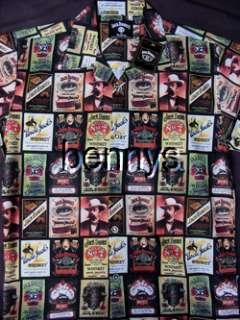NEW Jack Daniels Collage Club Shirt, Dragonfly, L