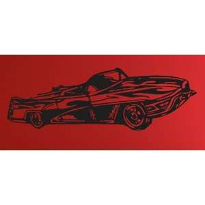Vinyl Wall Art of Abstract Convertible Classic Car. The Car