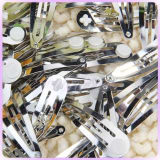 Wholesale 50 Hairpin hair Clips Snap Barrettes Glue Pad