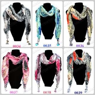 New fashion wholesale lots Womens leopard prints pashmina long Scarf