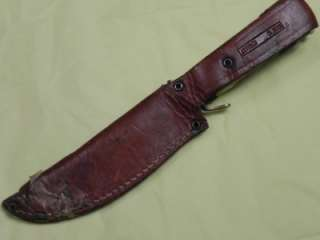 GERMAN SOLINGEN FIGHTING HUNTING KNIFE WITH STAG HANDLE AND ORIGINAL