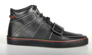 NEW GUCCI MENS BLACK LEATHER ANKLE BOOTS SHOES 5.5/US 6.5 W/BOX