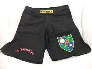 US ARMY RANGER COMBATANT MMA PT BLACK BOARD SHORTS