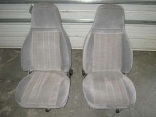 88 93 Chevy/GMC CK Truck Gray Cloth Bucket Seats Astro/Safari Van