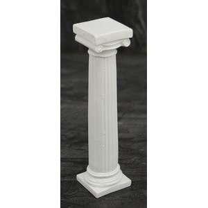 White Ionic Capital Column Jewelry Decorative Figurine