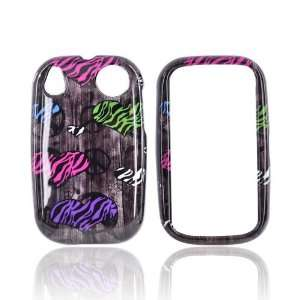 ZEBRA HEART PEACE SIGNS BLACK Hard Case For Palm Pre 2