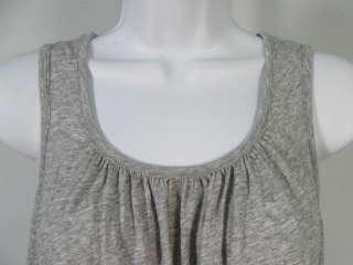 PURE DKNY Gray Flowy Sleeveless Tank Top Shirt Sz 0