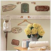 COUNTRY SIGNS 26 Wall Stickers Room Decor Western Decal