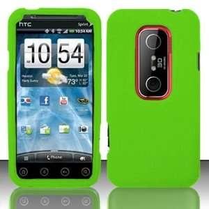 Evo 3D (Sprint) PREMIUM Silicon Skin Case   Neon Green Cell Phones
