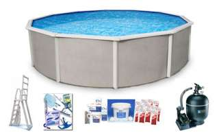 Belize 12  Round Above Ground Swimming Pool Package