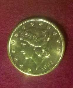 1904 $20 Liberty Head Gold Double Eagle 1oz. Gold Coin Beautiful AU