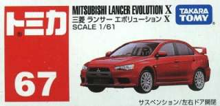 No.67 Mitsubishi Lancer Evolution Evo X 10 161 Diecast Car