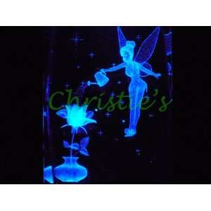 Tinker Bell with Rose 3D Laser Etched Crystal Everything