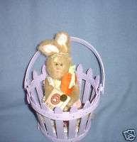 Longaberger EASTER Basket Picket Pail Boyds Bear BUNNY