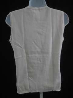 ICEBERG JEANS White Aqua Logo Sleeveless Shirt Top L