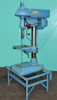 BUFFALO MODEL 18 PEDESTAL DRILL PRESS 12 x 12 TILTING TABLE with