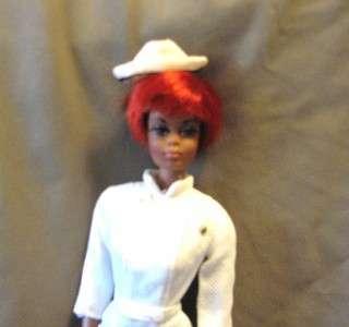 Vintage Nurse Julia,Original Uniform, Hat, Shoes 1969, TNT, Barbie