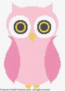 Crochet Patterns   OWL Baby Girl Afghan Pattern *EASY