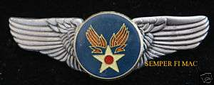 US ARMY AIR CORPS SEAL LOGO LARGE XL PIN WING AIR FORCE