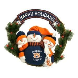 Auburn University Tigers AU NCAA 20 Three Snowmen Football Family