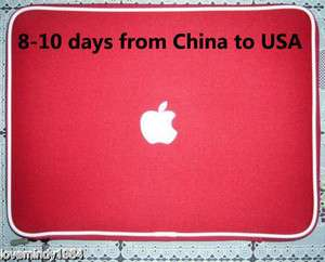 Notebook Sleeve Bag Case Cover for Apple Macbook Pro 15.4 RED   EUB