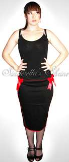 Hell Bunny 50s Rocka ~Pin Up~ CORSET Pencil SKIRT Goth