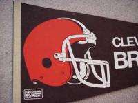 1970s Cleveland Browns Full Size Helmet Logo Pennant   UNSOLD STOCK