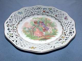 Vintage Schumann Bavaria Germany US Zone Pierced Bowl