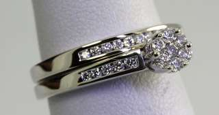 AFFORDABLE .40CT 29 DIAMOND 14K WG ENGAGEMENT RING WEDDING BAND BRIDAL
